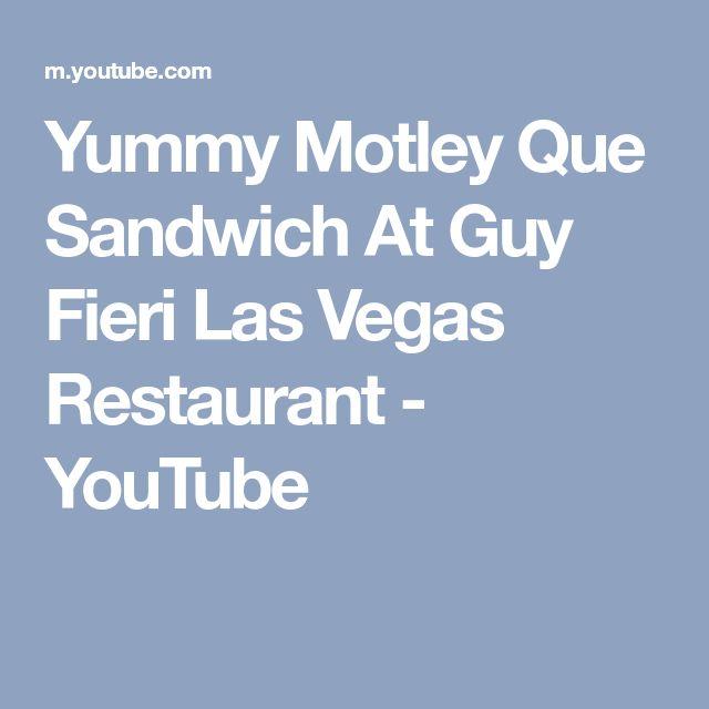 Yummy Motley Que Sandwich At Guy Fieri Las Vegas Restaurant - YouTube