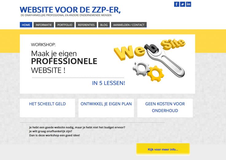 Website Workshop Website: maak je eigen professionele website in 5 lessen of 2 privelessen. http://workshop-website.nl