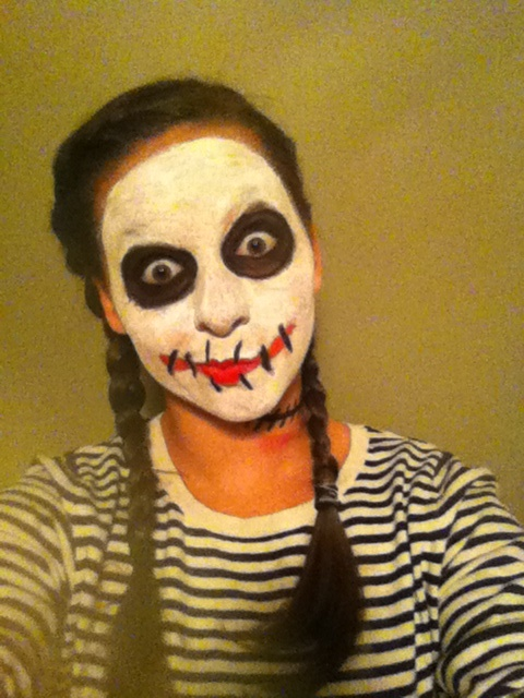 scary mime face - Mime For Halloween