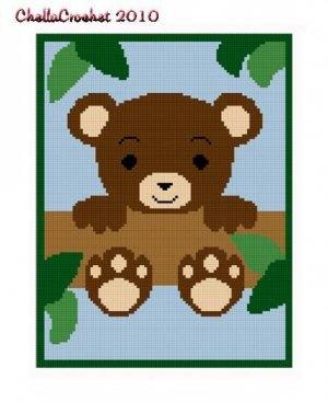 Teddy Bear  in Tree Afghan Crochet Pattern Graph 100st: $3.75
