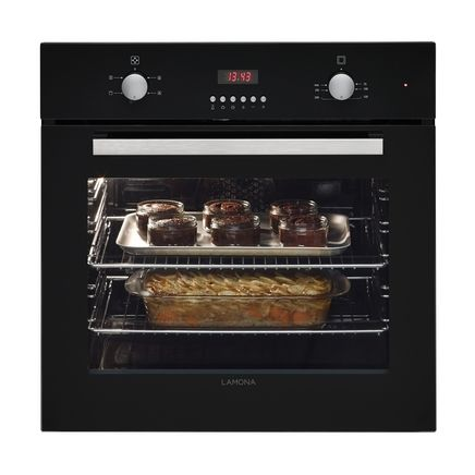 Lamona Black Fan Oven (LAM3403)