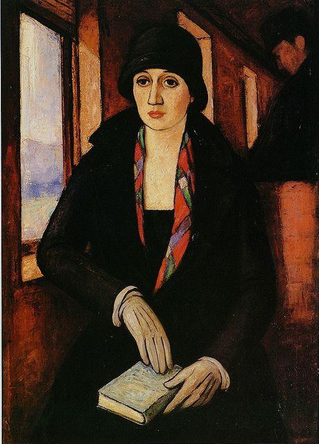 Camilo Mori, The Traveller, 1923: 1896 1973, The Artists, Mori Chilean, 1923 Camilo, Camilo Mori, Book, Chilean Painters, La Viajera, Chilean Artists