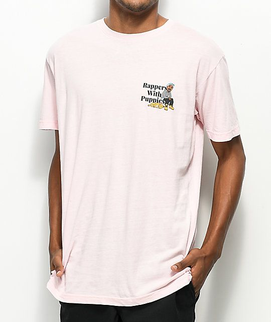 Dog Limited Rappers With Puppies Pink T-Shirt | Clothes