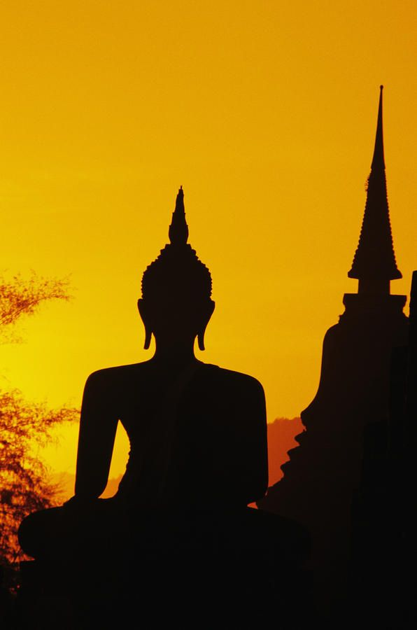 Sunset in Sukhothai Temple, Thailand