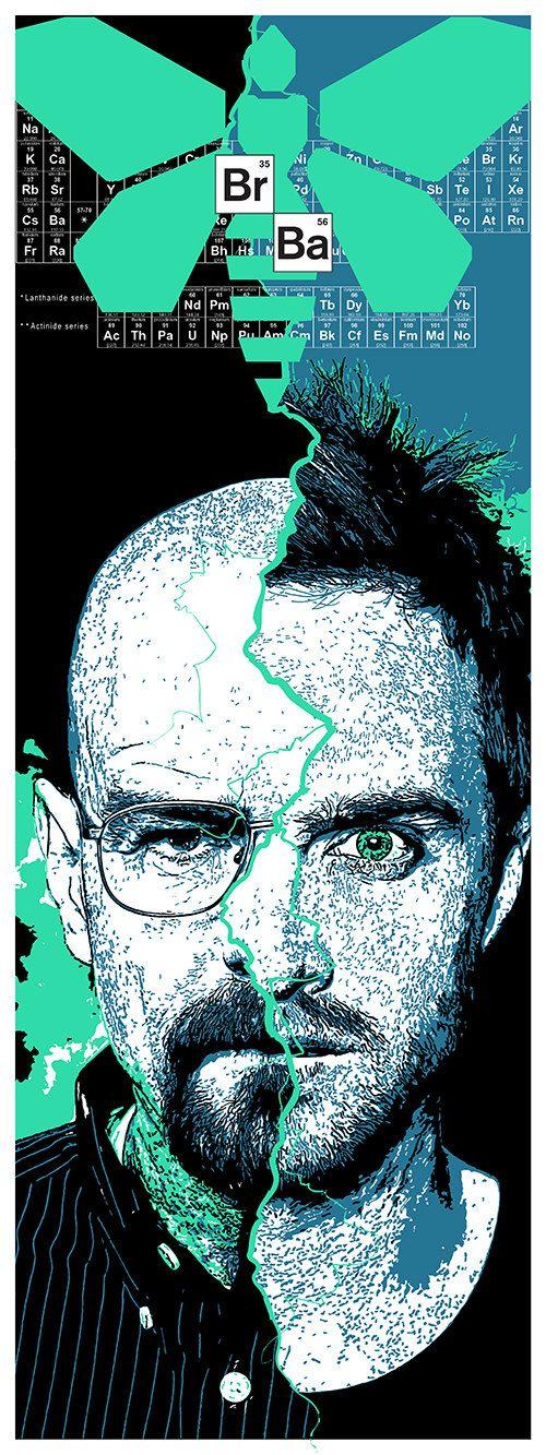 Breaking Bad inspired screenprint by John Allen (johneallen on Etsy).