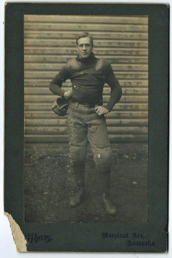 Circa 1906 to 1909 Navy - United States Naval Academy Football Player Cabinet Photograph. $240
