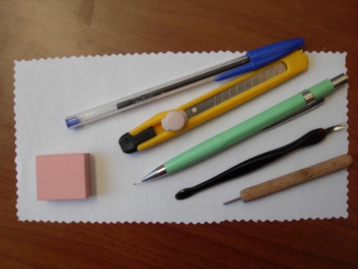 El taller de Melissa: Tutorial :como hacer sellos caseros con lo que tenemos en casa.