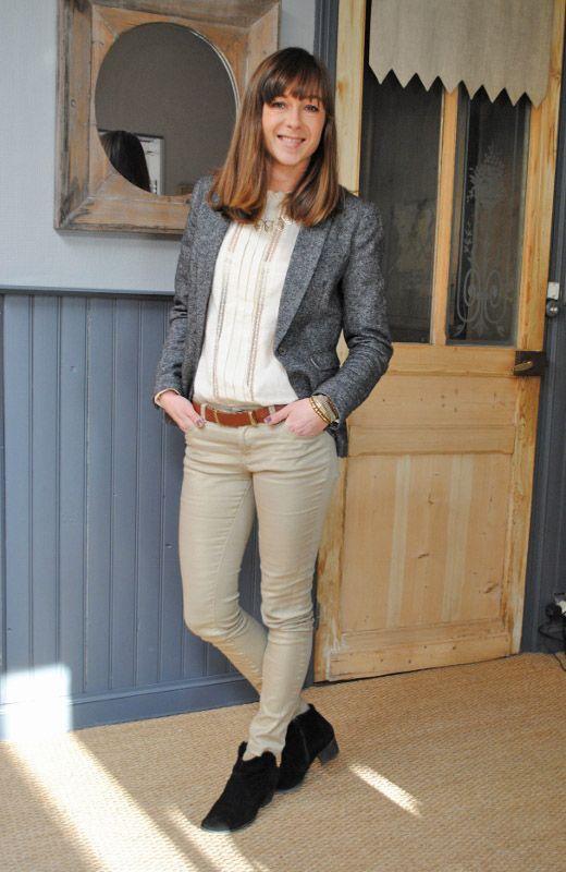 Veste tweed femme kiabi