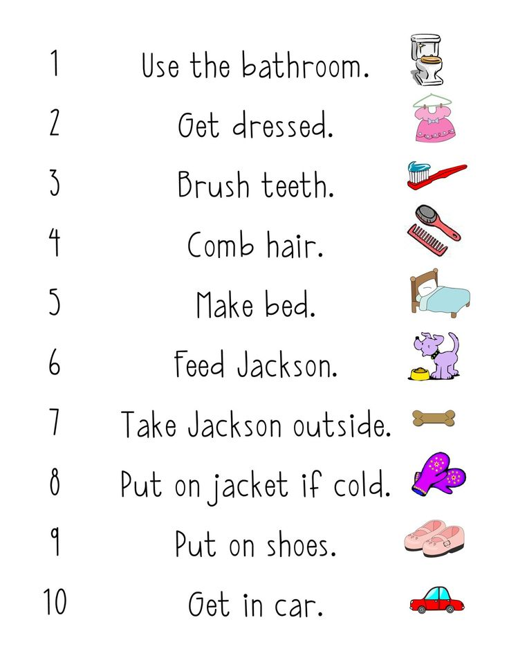 32 best images about kids routine chart