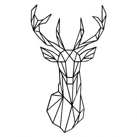 r sultat de recherche d 39 images pour cerf geometrique dessin pinterest cerf geometrique. Black Bedroom Furniture Sets. Home Design Ideas