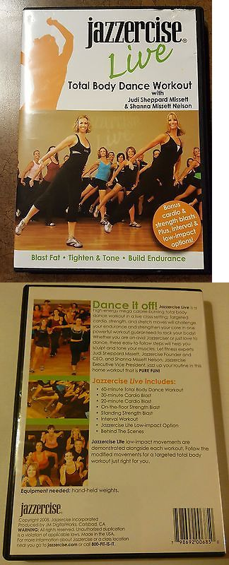 Fitness DVDs 109130: Jazzercise Live Total Body Dance Workout Dvd - Exercise And Fitness - New And Sealed -> BUY IT NOW ONLY: $44.95 on eBay!