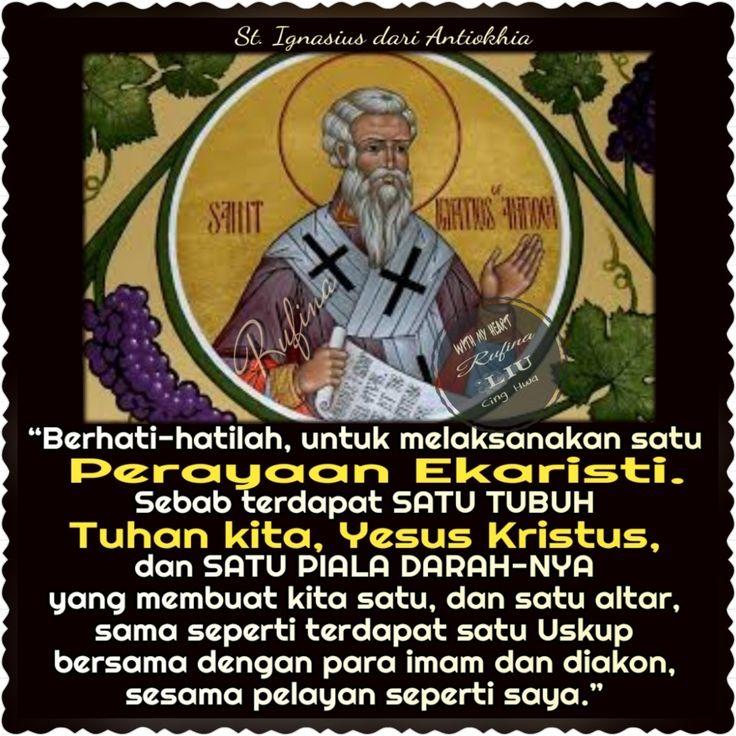 ✿*´¨)*With My Heart 💐🌼 ¸.•*¸.• ✿´¨).• ✿¨) (¸.•´*(¸.•´*(.✿ GOOD DAY...GBU ~   Selasa, 17 Oktober 2017 Peringatan Wajib dari Ignasius dari Antiokhia, Uskup dan Martir
