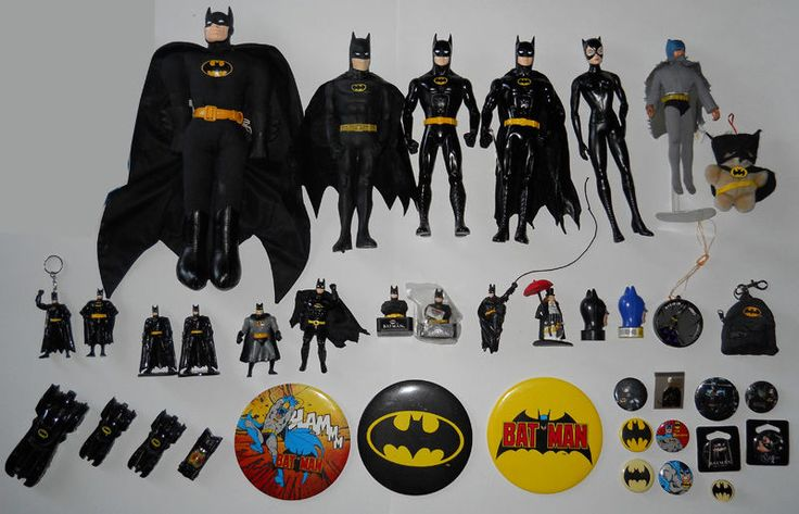 Batman Collection Lot 100 Items Vintage 80 039 s 90s Toys Comics Merchandise | eBay