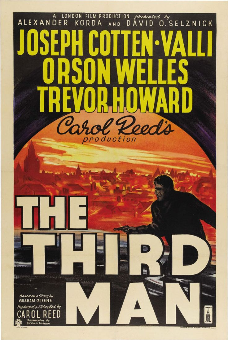 """Movie Poster of the Week: Carol Reed's """"The Third Man"""" on Notebook   MUBI"""