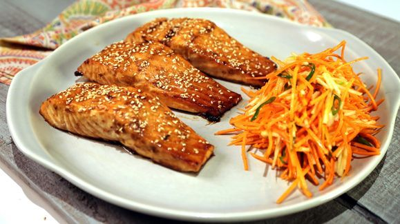 wine food recipes brown sugar glazed salmon with ginger cream