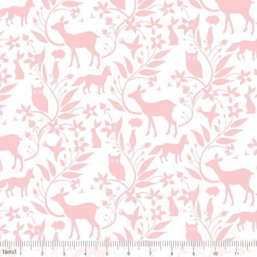 113.108.02.1 Woodland Creatures Pink by designer Ana Davis