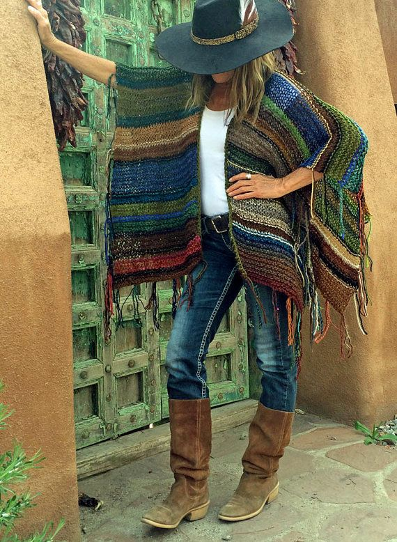 Hip Length Knitted Womens Bohemian Festival Hippie by poshbygosh
