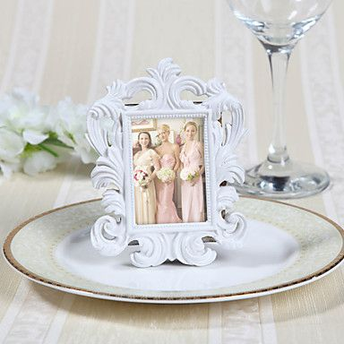 resin place card holders frame style poly bag wedding favors beautiful
