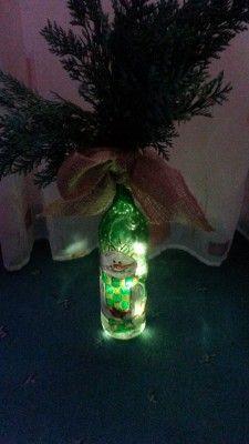 Schneemann-Flasche