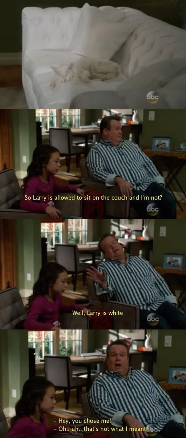 "When Lily made a good point. | 21 ""Modern Family"" Moments That'll Make You Laugh Every Time"