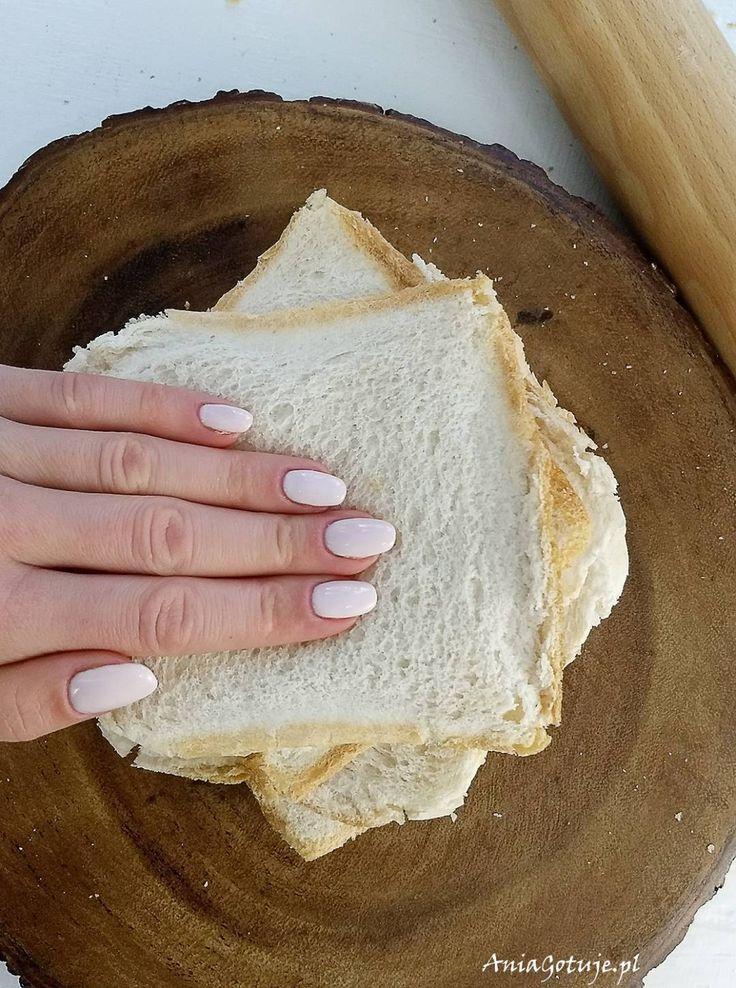 Grzanki z chleba tostowego
