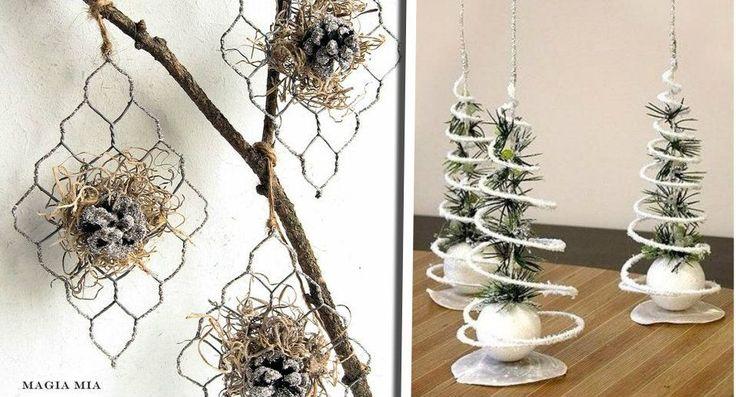 A volte per il Natale si ha voglia di qualche decorazione un po' più... come dire... particolare e allora eccomi alla ricerca di qualche addobbo da poter r