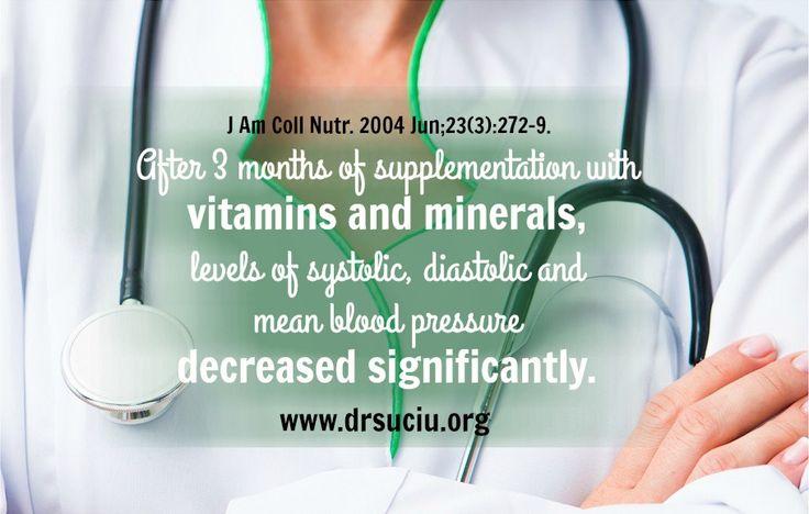Vitamins, minerals and blood pressure - drsuciu
