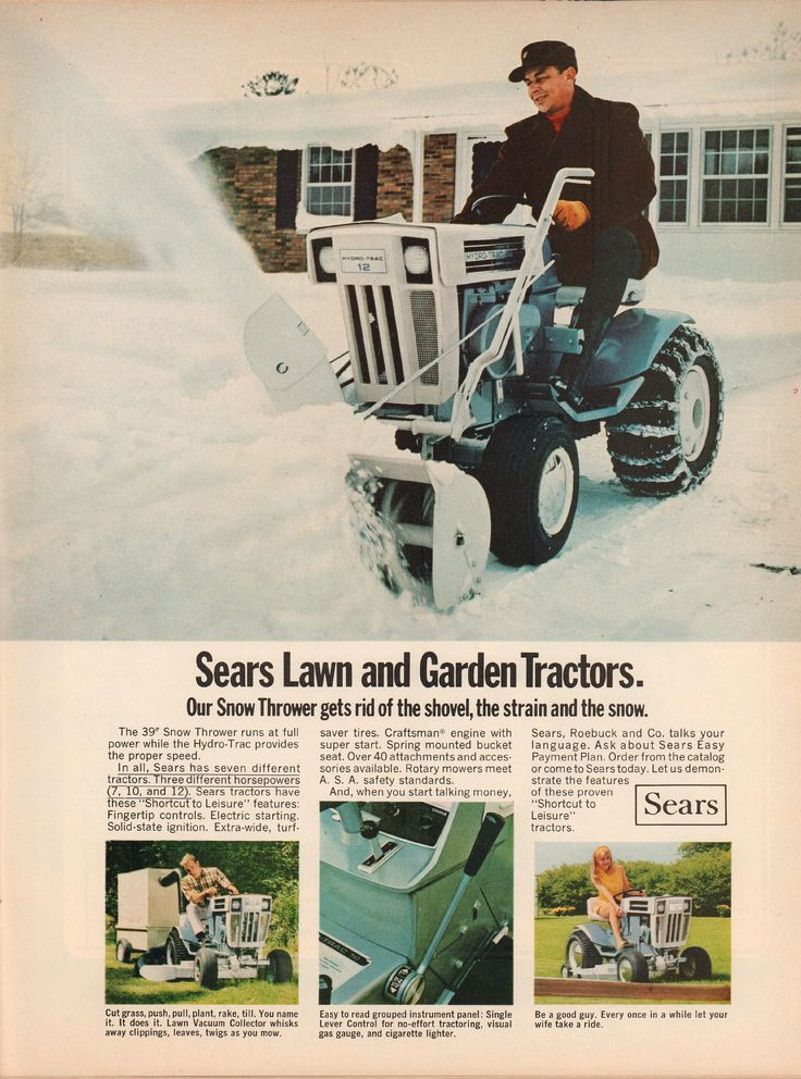 https://flic.kr/p/wqw1yX | 1969 Sears Lawn and Garden Tractor Advertisement Life Magazine October 10 1969 | 1969 Sears Lawn and Garden Tractor Advertisement Life Magazine October 10 1969