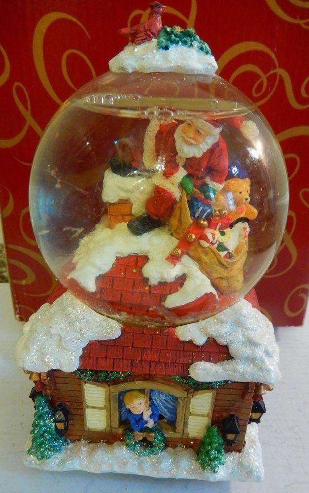 San Francisco Music Box Snow Globe Santa Claus is Coming to Town