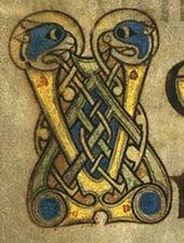 Book of Kells - initial letter V