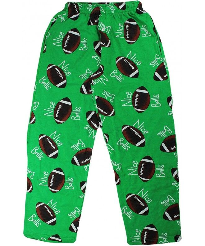 Mens Sports Fun Prints Pajama & Lounge Pants - Nice Balls Football -  CL12OBSZWG0,Men's Clothing, Sleep & Lo… | Mens cotton pajamas, Print pajamas,  Mens silk pajamas