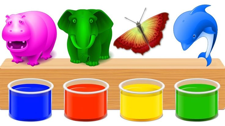 COLORING ANIMALS | Learn Colors with Domestic Animals Body Painting Bath...