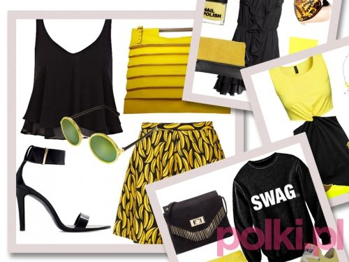 Modne stylizacje lato - Połączenie czerni i koloru żółtego jest bardzo w stylu lat 90. Kojarzy się z odrobinę grunge'owym stylem, ale wciąż pozostaje neutralny.