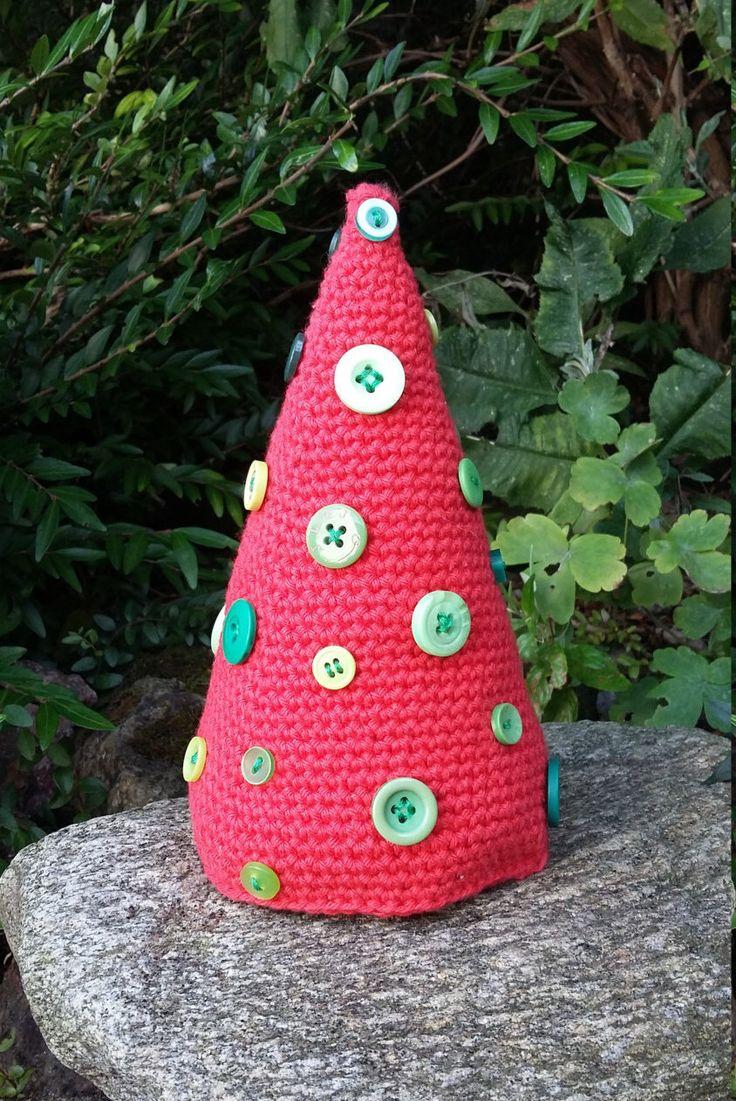 Crocheted Christmas Tree, Christmas Decoration, Alternative Christmas Tree, Funky Christmas Tree, Christmas Tree. by knittyvikki on Etsy https://www.etsy.com/uk/listing/465959656/crocheted-christmas-tree-christmas