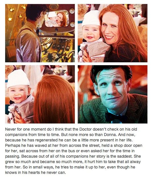 Well isn't this a nice thought.  I'd like to believe it's true.  Donna was always my favorite