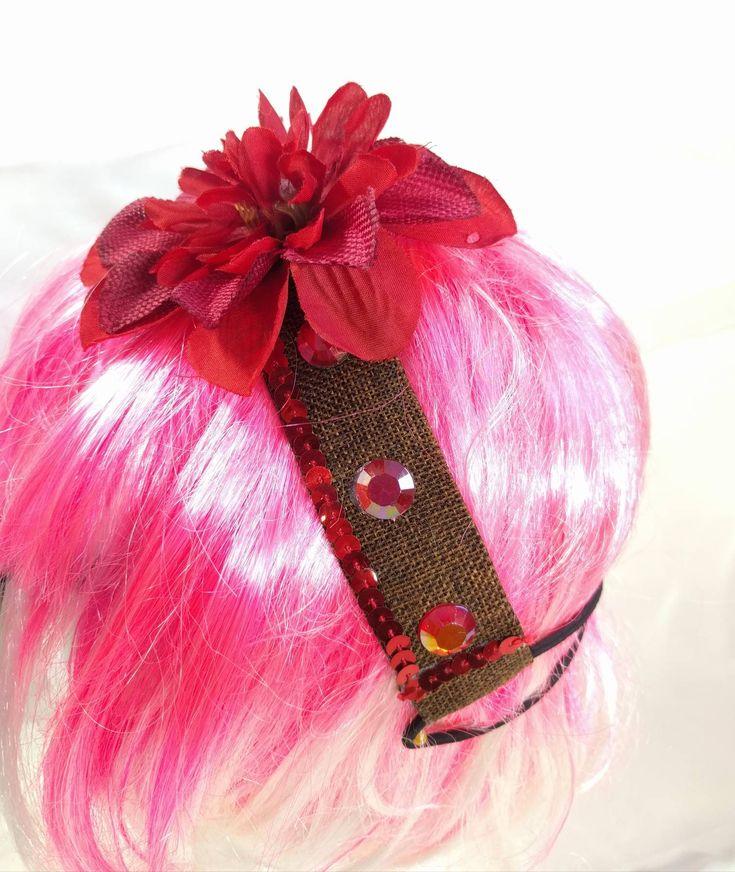 Flower Headband • Handmade • Summer • Spring • Costume • Festival https://www.etsy.com/listing/583084566/flower-headband-handmade-summer-spring?utm_campaign=crowdfire&utm_content=crowdfire&utm_medium=social&utm_source=pinterest