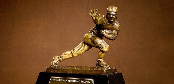 Dec 9, 2013, Jameis Winston, Jordan Lynch, Johnny Manziel, AJ McCarron, Tre Mason, and Andre Williams are the six finalists for this year's Heisman Trophy. The winner will be announced Saturday.