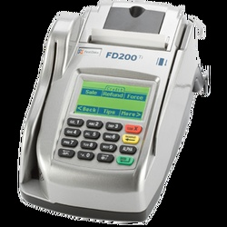 The FD200Ti Encrypted terminal is designed to virtually eliminate the need to use several devices to process different forms of payment.    Through an optional WiFi, Internet protocol (IP) or dial-up communication, the First Data FD200Ti quickly and securely processes transactions.    Featuring an advanced, built-in check reader/imager to support TeleCheck® ECA® and lockbox services, the First Data FD200Ti is an all-in-one payment processor that includes all necessary verification options.
