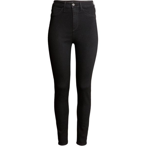 Skinny High Ankle Jeans $9.99 ($9.99) ❤ liked on Polyvore featuring jeans, pants, bottoms, pantalones, skinny leg jeans, super skinny jeans, ankle length skinny jeans, short pants and denim jeans