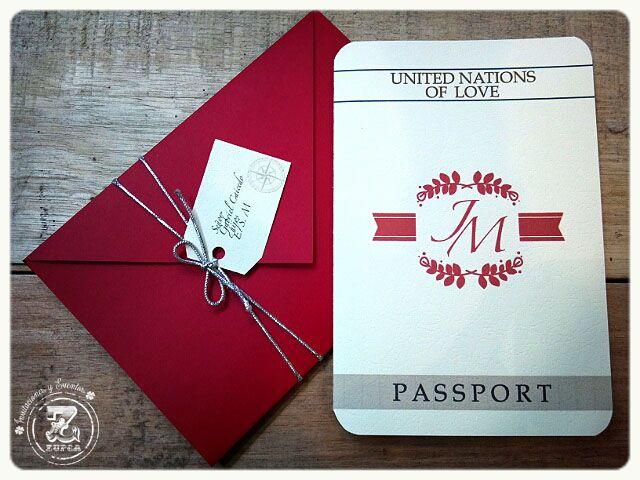 Pasaporte, Invitación de Boda.