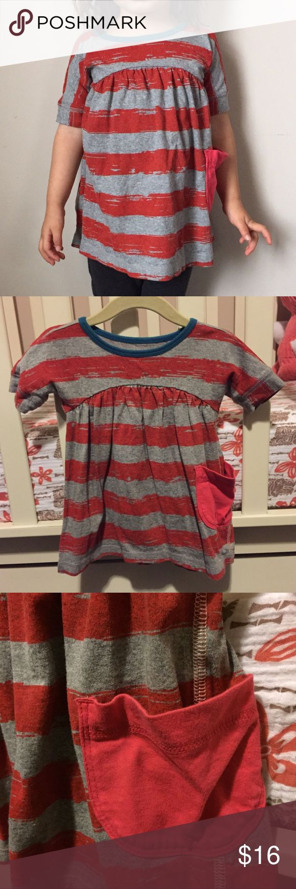 Tea Collection Gray & Red Striped Dress Tea Collection Gray & Red Striped Dress with Blue Neckline. EUC, sz 6-12 months. Would be perfect for a patriotic holiday. Only worn one time as we purchased the dress off season and she out grew it by the time she could wear it. Though in hindsight, it could have been worn as a tunic with pants or shorts (daughter is modeling this dress as a tunic at 2yrs 4mths in 2nd photo, over 1 years only in cover photo).   ⭐️ Bundle & Save, Posh Rules Only ⭐️ All…