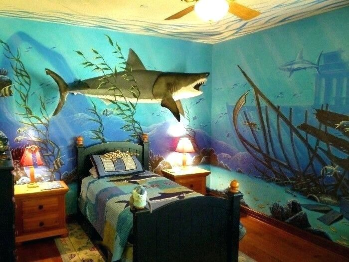 Shark Bedroom Decor Shark Themed Bedroom Boys Room Mural Kids