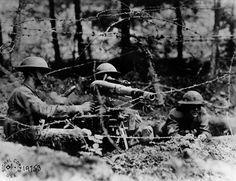 Fotos de la Primera Guerra Mundial: 99 aniversario del verano de su comienzo (IMÁGENES). 1918. Soldados americanos en segunda línea en Dieffmatten (Alsacia).