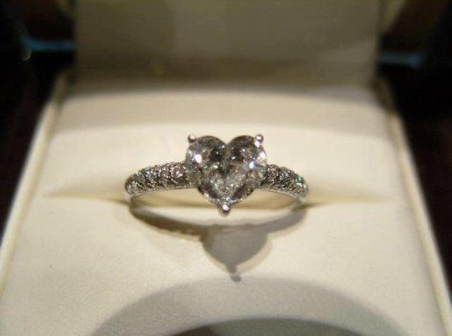 Heart shaped gemstone ring
