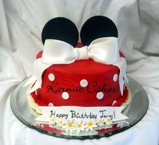 1000 Ideas About Minnie Mouse Birthday Cakes On Pinterest