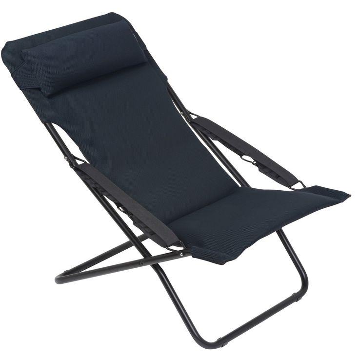 Lafuma Transabed XL Plus Air Comfort Outdoor Folding Sling Chair - LFM2617-3186