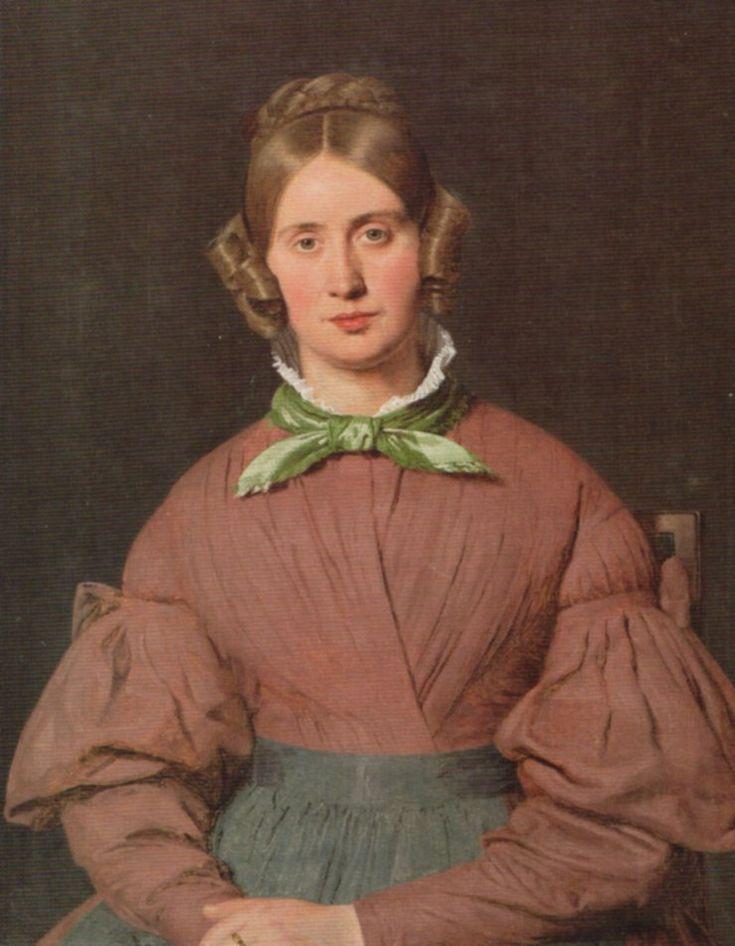 Portrait of the Artist's Wife,Susanne Cecilie Købke by Christen Købke