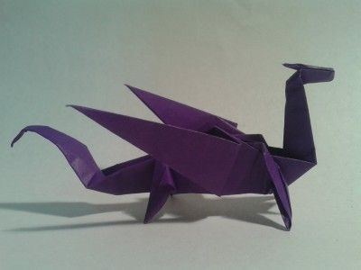 How to make an easy origami dragon step by step DIY tutorial instructions | How To Instructions