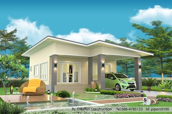 Five Amazing Single Storey House Designs Ulric Home Contemporary House Design Minimalist House Design One Room Houses