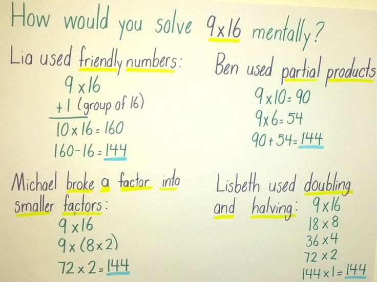 , Numbers Talk, Multiplication Strategies, Mental Math Strategies ...
